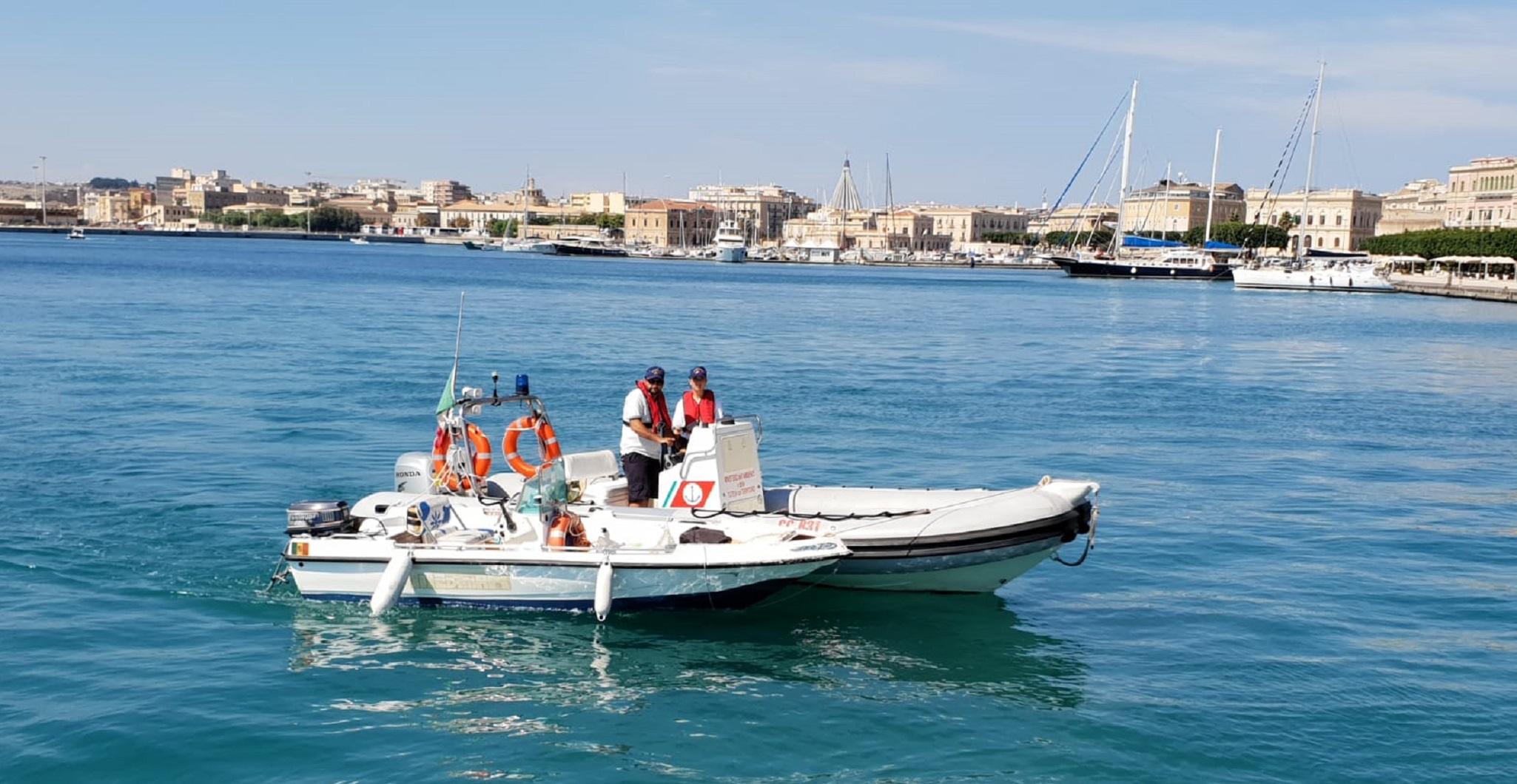 Siracusa, motore della barca in avaria: viene soccorso al Plemmirio
