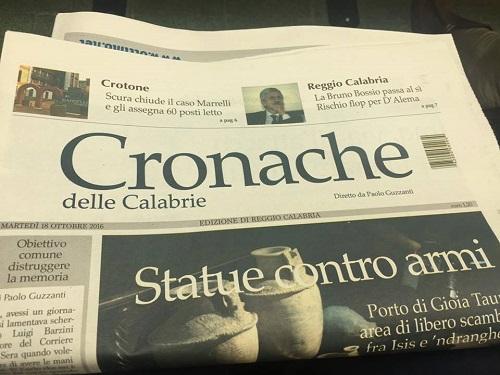 """Editoria: stato di agitazione a """"Cronache delle Calabrie"""""""