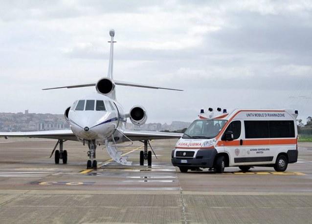 Bimbo trasportato con volo militare da Catania a Bergamo