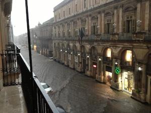 I temporali d'agosto a Catania e dintorni, chiesta Conferenza dei servizi