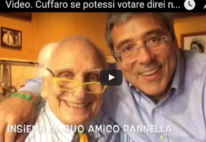Palermo, Cuffaro in un video: