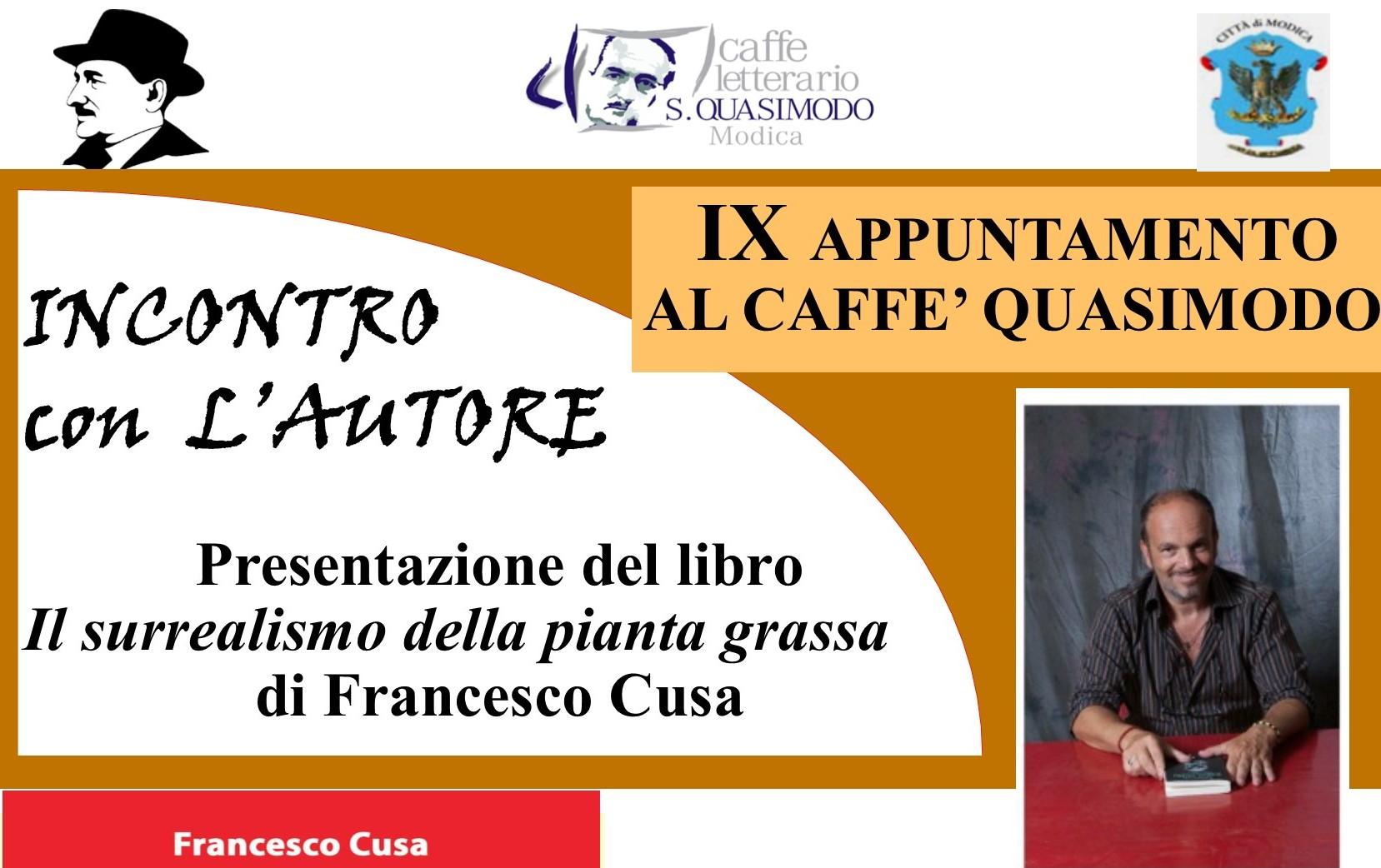 Modica, al Caffè Quasimodo si presenta il libro di Francesco Cusa