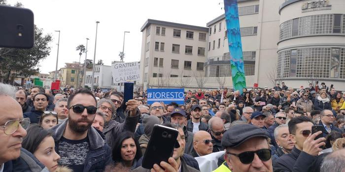 Manifestazione a Catanzaro a sostegno del procuratore capo Gratteri