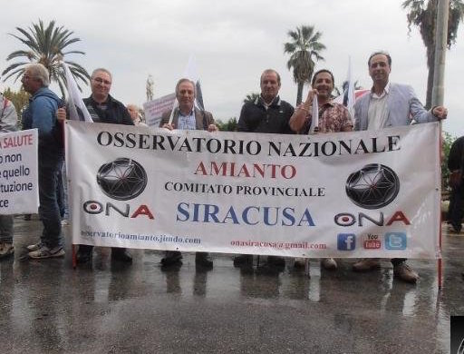 Amianto, a Priolo Gargallo il sit in di protesta dell'Ona Siracusa