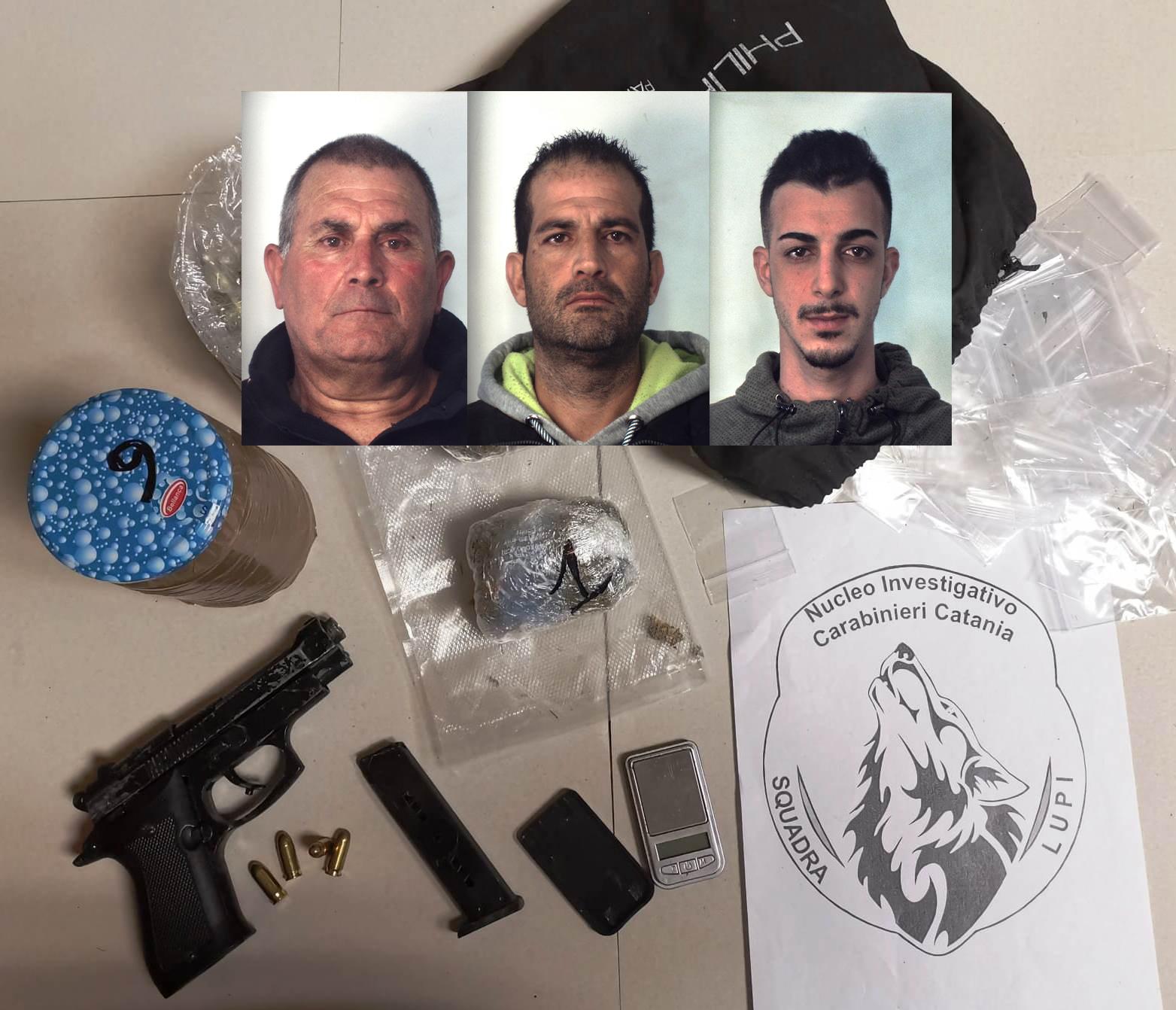 Catania, 3 arresti al Pigno della 'squadra lupi'  per armi e spaccio di droga