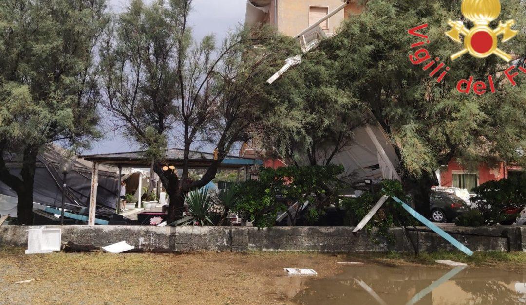 Nubifragio nel Catanzarese, danni a Falerna