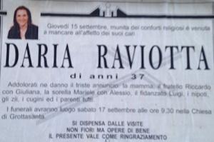 Siracusa, la morte di Daria Raviotta: per i familiari nessun caso di malasanità