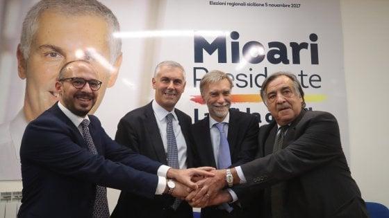 Regionali, Del Rio a Palermo:
