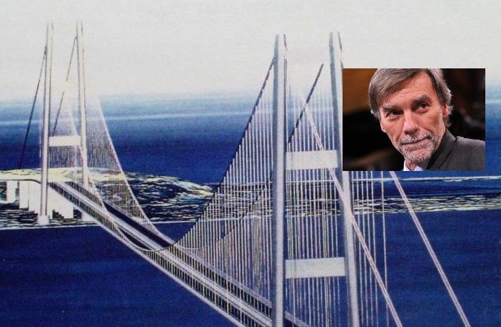 """Il Ponte di Messina, Delrio:"""" I soldi deve metterli solo lo Stato"""""""