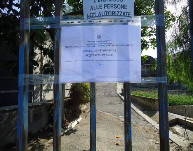 Sigilli al depuratore di  Santa Maria di Licodia: due persone indagate