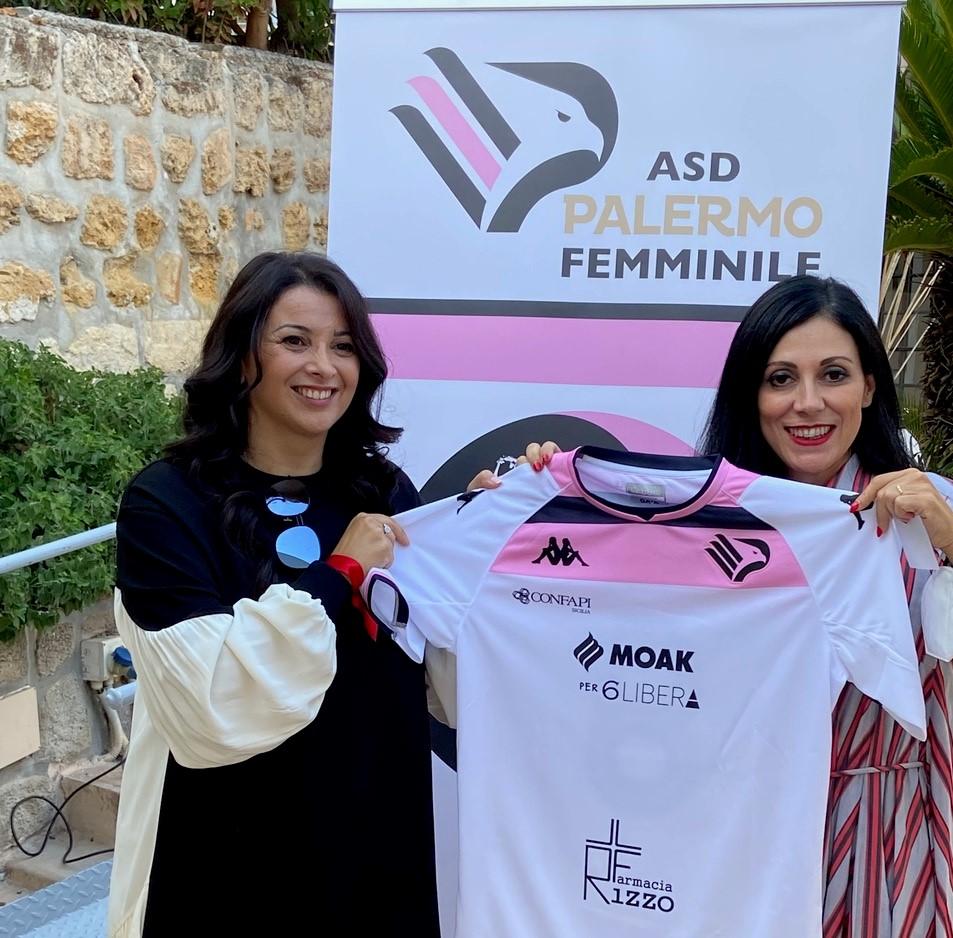 """Moak e """"6Libera"""" per la prima volta insieme sulle maglie della Asd Palermo Femminile"""
