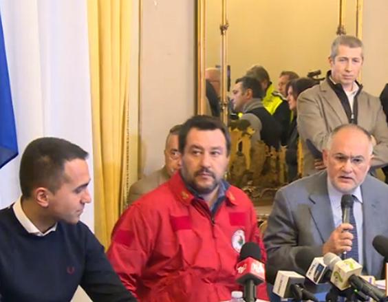 Etna, Salvini e Di Maio: domani il governo dichiara lo Stato di emergenza