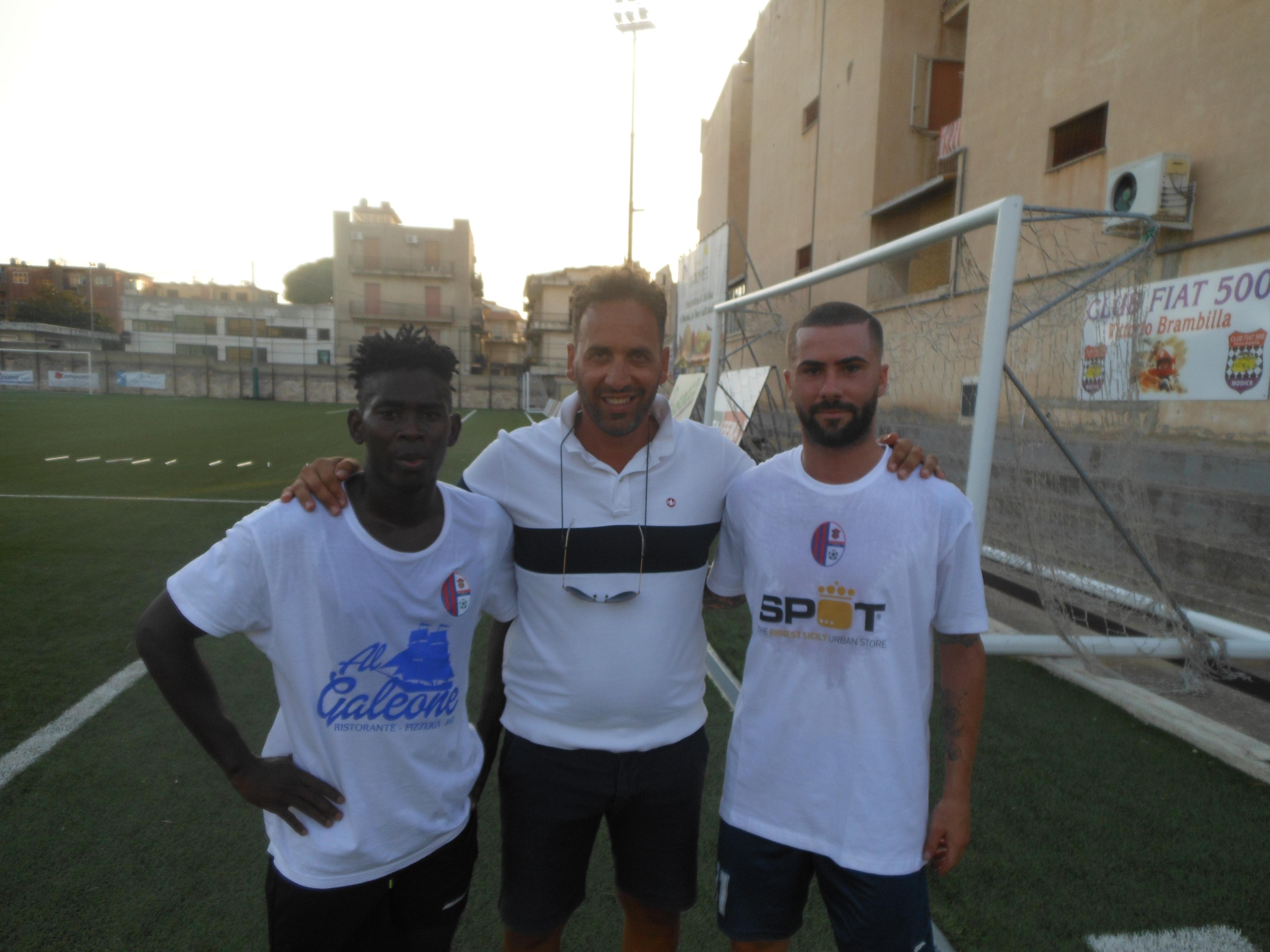 Calcio, arrivano al Modica l'attaccante  Incardona e il centrocampista nigeriano Igbe