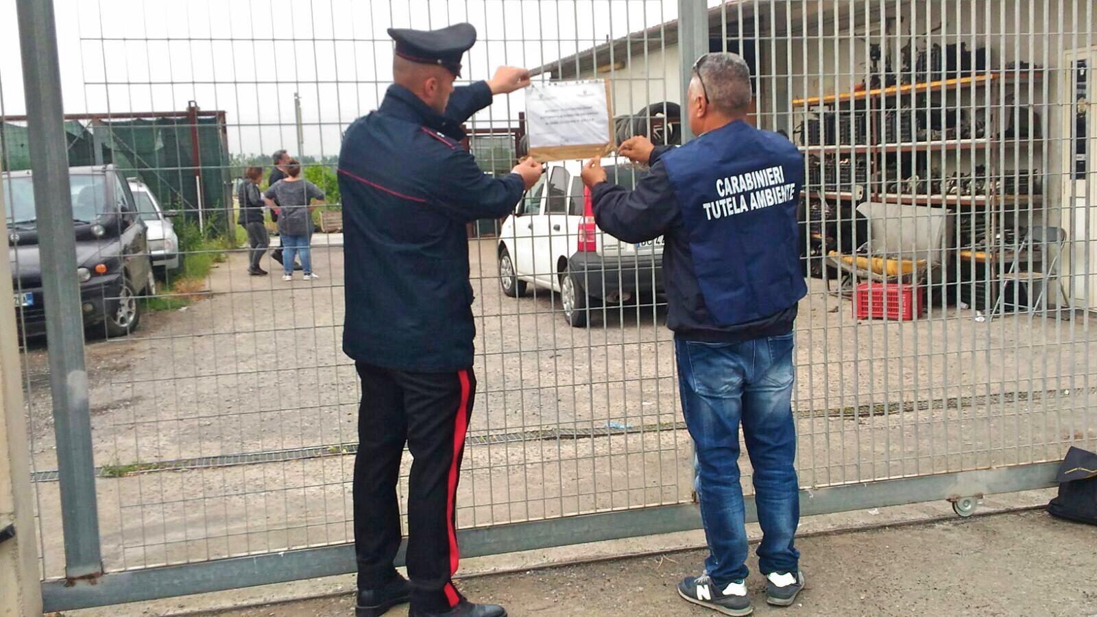 Rifiuti pericolosi, sequestrata una vasta area a Francofonte
