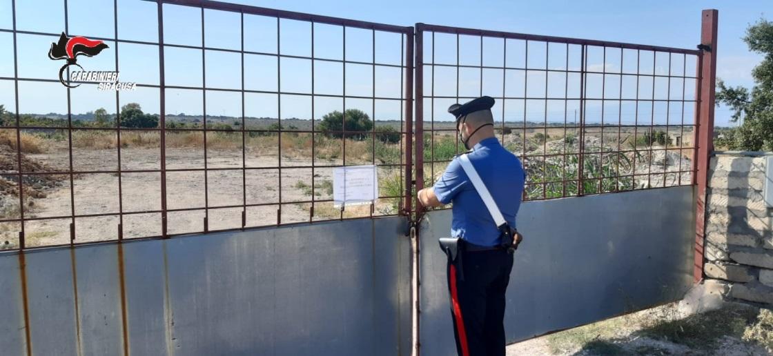Discarica abusiva in territorio di Melilli, un denunciato
