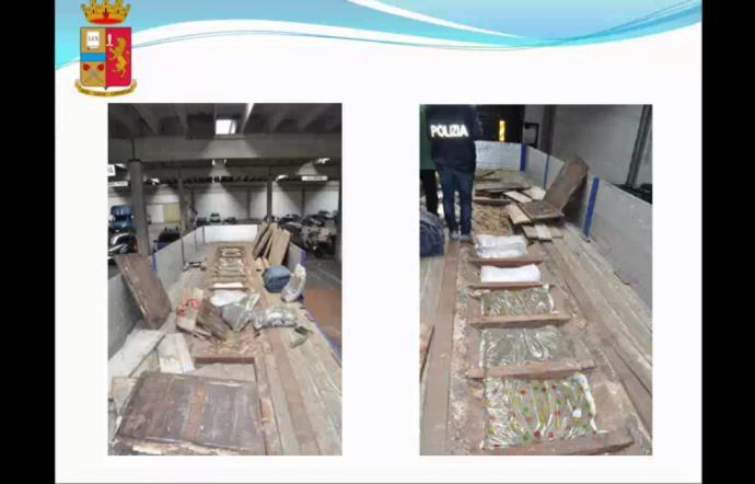 Autoarticolato 'stupefacente' trasportava carico di marijuana da 162 chili