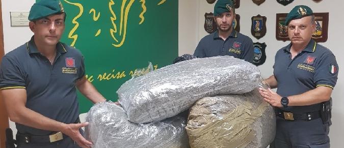 Catania, arrestato un corriere della droga con 50 chili di marijuana