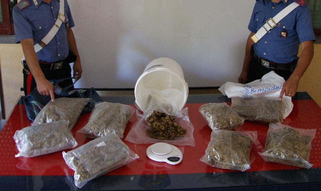 Droga: scoperti 4 chili di marijuana, due arresti a Mazzarino