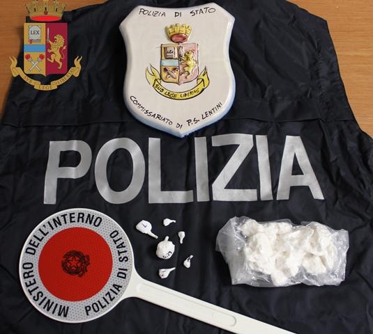 Lentini, donna incensurata presa dalla polizia con 25 mila euro di cocaina