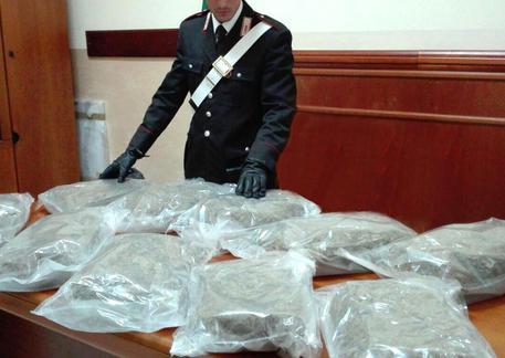 In auto con undici chili di marijuana, arrestato vicino Reggio Calabria