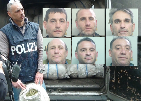 Colossale traffico di droga a Catania, la polizia sequestra 1000 chili di marijuana