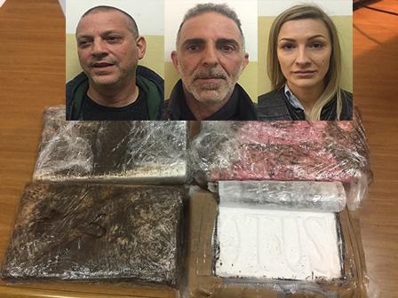 Tre arresti a Catania, presi con 4,6 chili di cocaina