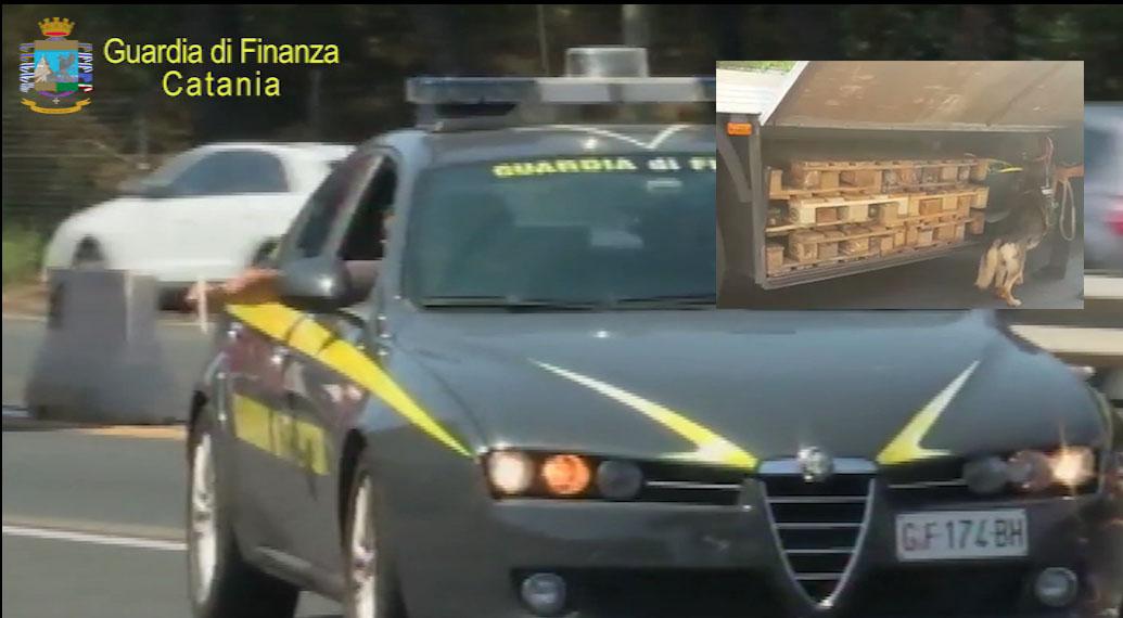 Bloccato a Catania un  Tir con 25 chili di hashish: un arresto