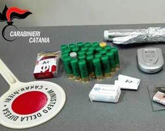 Scoperte a Nicolosi droga e munizioni, una persona arrestata