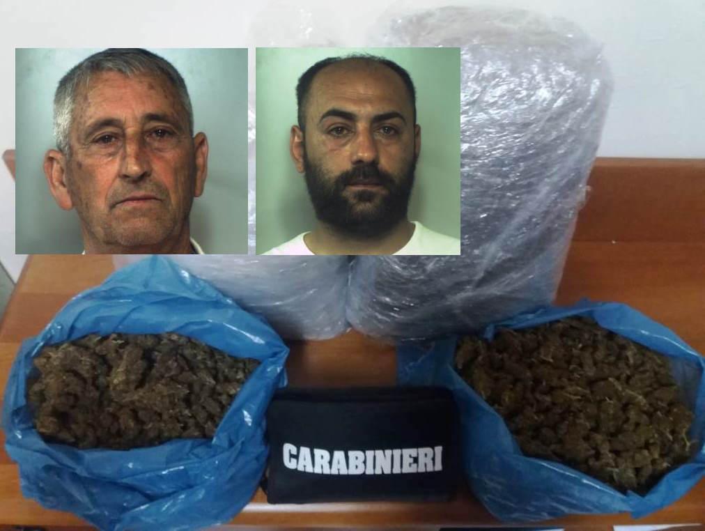 Droga, trovati con 5 chili di marijuana: due arresti a Catania