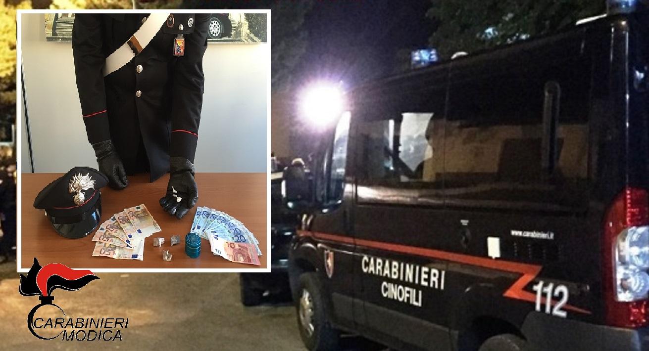 Modica Bassa passata al setaccio dai Carabinieri: un denunciato