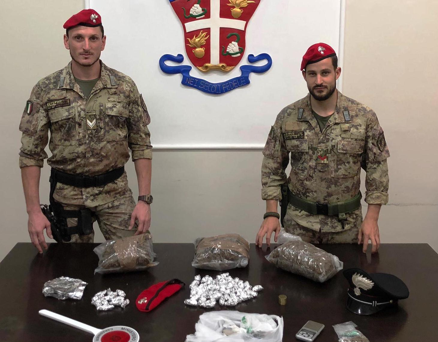 Sequestrata a Paternò 1,6 chili di marijuana: arrestato un ucraino