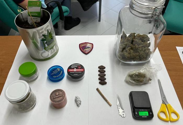 'Erba' essiccata in casa, arrestato a Polistena per spaccio
