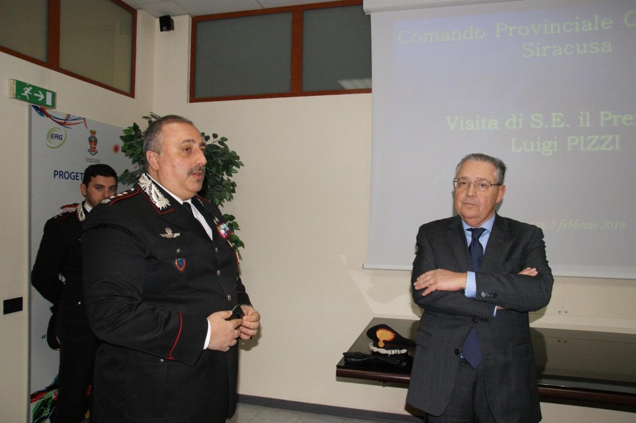 Il prefetto di Siracusa in visita al Comando provinciale carabinieri
