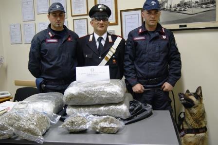 Ragazzino di 16 anni arrestato a Mascali con 18 chili di marijuana