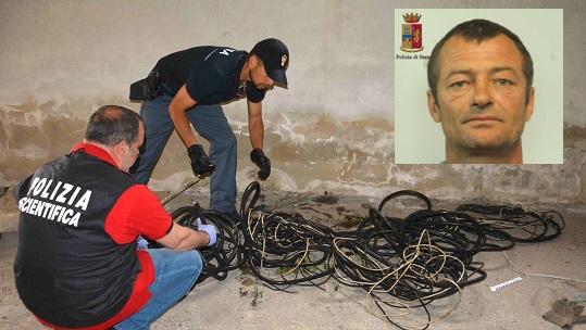 Ragusa, ruba cavi di rame dall'edificio di un ex mulino: arrestato