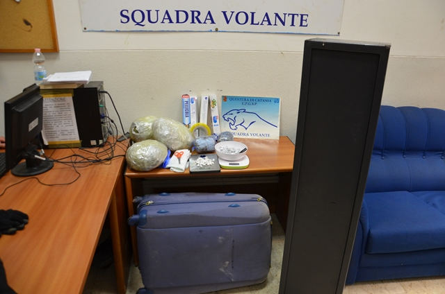Catania, marijuana  in cassaforte: scatta il sequestro
