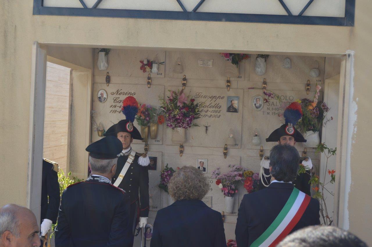 Avola, celebrata la memoria di Giuseppe Coletta il carabiniere ucciso a Nassirya