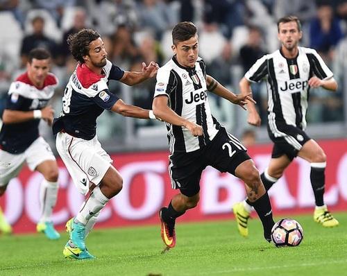 La Juve mette il turbo e fa poker al Cagliari, controsopparso sul Napoli