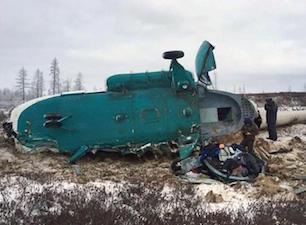 Elicottero precipita in Siberia: 19 morti e 3 feriti