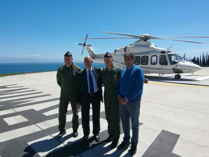 G7, l'Aeronautica collauda la prima piazzola per gli elicotteri
