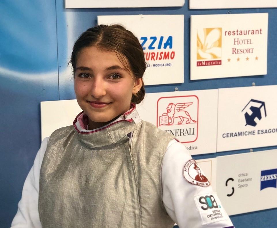 Scherma Modica, Elvira Sigona in pedana al Trofeo Coni Nazionale