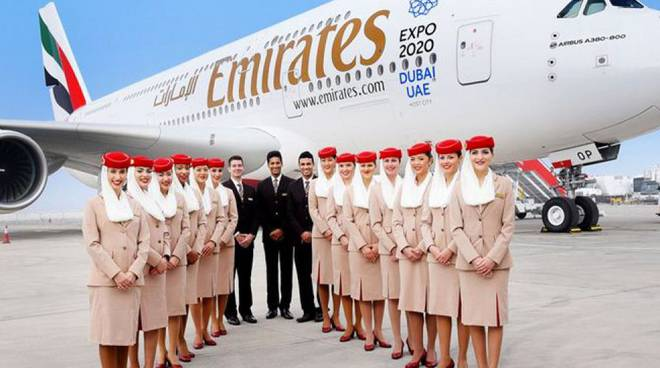 Emirates cerca personale di bordo in Italia: cinque open day
