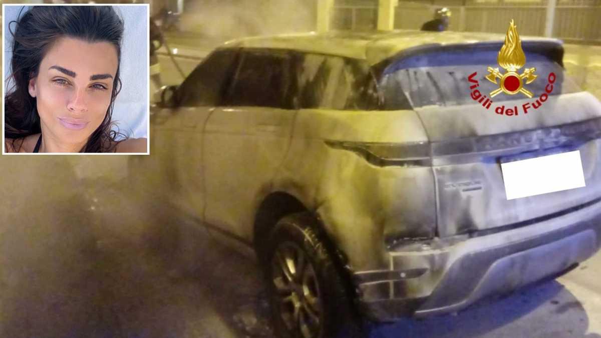 Cagliari, bruciata la Land Rover della showgirl Serena Enardu