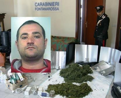 Catania, aveva in casa 4 chili di marijuana, che coltivava nella zona notte