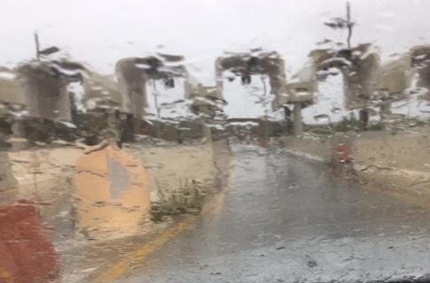 Nubifragio a Rosolini, strade allagate anche all'uscita dell'autostrada