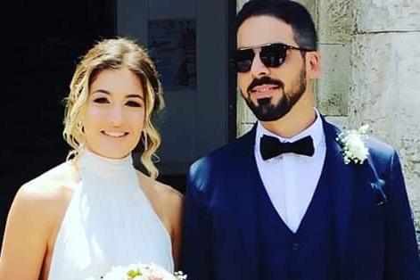 Sì di Pamela e Salvo, primo matrimonio a Floridia dopo la fase del lockdown