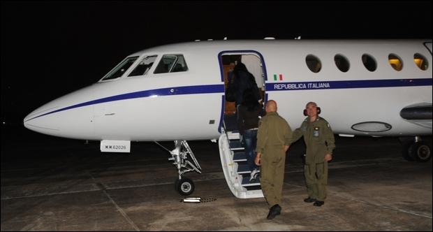 Bimbo in gravi condizioni, volo Aeronautica da Taormina  a Roma