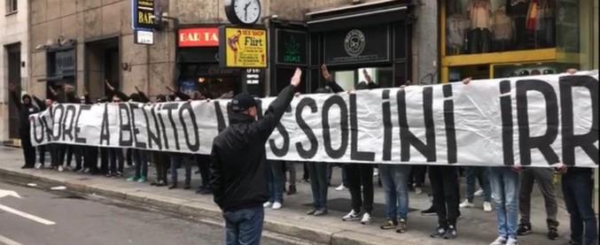 Striscione fascista a Milano, otto ultrà della Lazio indagati