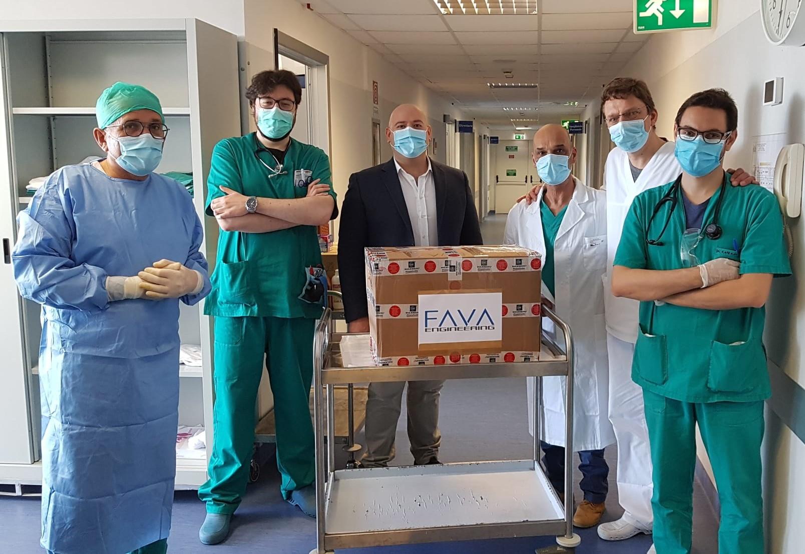 Ispica, la Fava Engineering dona mascherine all'ospedale Maggiore di Modica