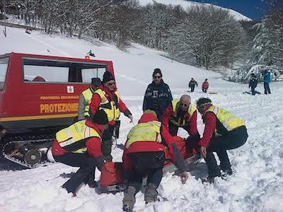 Incidenti sulla neve, dieci feriti soccorsi a Piano Battaglia
